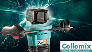 Collomix Xo10 NC: la prima mescolatrice a conduzione manuale a batteria