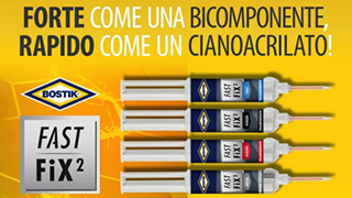Bostik: le nuove colle bicomponenti Fast Fix²