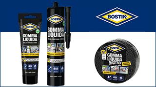 BOSTIK Gomma Liquida in due nuovi formati tubo e tape